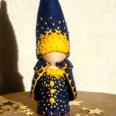 Midnight Solstice Gnome Ornament Waldorf Inspired Storytelling Nature Table Play