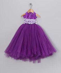 This Bébé Oh La La Purple Garden Tulle Dress - Infant by Bébé Oh La La is perfect! #zulilyfinds