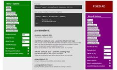 #Stickyfloat : #jQuery Animated Fixed Position Element #Plugin