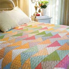 ~ Follow Your Dreams ~ Fast Triangle Bed Quilt Pattern
