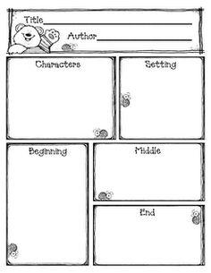 Reading comprehension graphic organizer