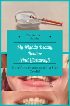 My Nightly Beauty Routine (And Giveaway!) - The Southern Smiths: enter for a chance to win! http://www.smilebrilliant.com/g/thesouthernsmiths