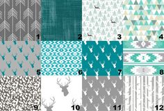 Teal is the it color and it's been so hard to find cute rustics deer prints until now!!! #cribbedding