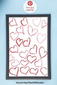 This amazing Valentines Day watercolor heart print will look great in your bedroom, living room, office dorm or nursery.  !NSTANT DOWNLOAD - NO PHYSICAL PRODUCT WILL BE SHIPPED!  ===INCLUDED FILES===  💗 2:3 ratio file for printing:  Inch: 6x9, 8x12, 10x15, 12x18, 16x24, 20x30, 24x36 Cm: 10x15, Watercolor Heart, Watercolor Print, Art Wall Kids, Home Decor Wall Art, Heart Wall Art, Watercolor Art Paintings, Colorful Wall Art, Valentines Day Decorations, Heart Print