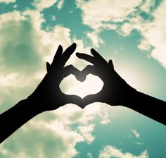 Two Hands Making a Heart Shape in the Sky Photography by Eazl, White Hands Making A Heart, Heart Shaped Hands, Heart Hands, Two Hands, Hand Reference, Pose Reference, Heart Drawings, Animal Drawings, Creative Lifestyle
