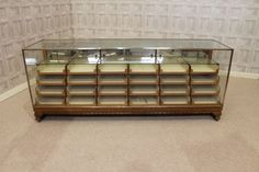 This haberdashery is a fantastic example of a classic piece of Edwardian shop furniture. This superb quality multi drawer shop counter features a brass...