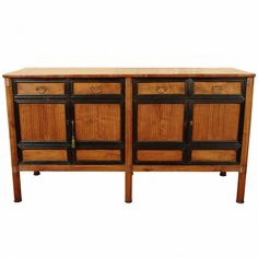 Italian, Veneto or Venezia, Early 19th Century Fruitwood and Ebonized Credenza | From a unique collection of antique and modern credenzas at https://www.1stdibs.com/furniture/storage-case-pieces/credenzas/