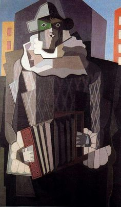 EMILIO PETTORUTI (one of the pioneers of cubism in Argentina), Harlequin, found at lazarillo mochilero Traditional Paintings, Traditional Art, Contemporary Paintings, Georges Braque, Rene Magritte, Cubist Art, Abstract Art, Pablo Picasso, 20th Century Painters