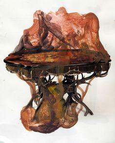 Joseba Eskubi Spanish Artists, Organic Form, Weird And Wonderful, Contemporary Paintings, Exploring, Mixed Media, Sculptures, Collage, Clock