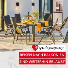 Die Sonne meint es gut mit uns. Höchste Zeit also, den Balkon oder Garten schön zu machen 🌸 So ein sonniger Tag auf dem Balkon kann sich tatsächlich ein bisschen nach Urlaub anfühlen, oder? Wer von euch hat das Glück, ein bisschen Urlaubsfeeling zu Hause zu haben? Outdoor Furniture Sets, Outdoor Decor, Trends, Inspiration, Home Decor, Elegant Dining Room, Balcony, Ad Home, Vacation