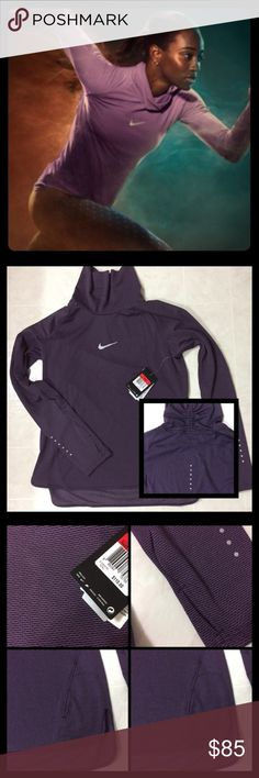Women's NIKE RUNNING Long Sleeve Top NIKE RUNNING LONG SLEEVE TOP. Has thumb holes, a slouch collar, in a very pretty deep Purple. ‼️BRAND NEW‼️ WITH TAGS‼️Feel free to ask questions ❌TRADE ❌   💗OPEN TO OFFERS 💗   🔥🔥DEALS ON BUNDLE ORDERS 🔥🔥 Ask about FREE SHIPPING 📦 Nike Tops Tees - Long Sleeve
