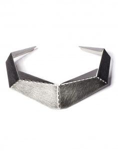 Naszyjnik TRANS-FORM-ERS #metal #geometric #jewelery #origami