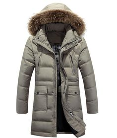 Down Jackets Jackets & Coats 2018 Fashion Winter Jacket Men High Quality Fur Collar Thick Warm Parka Men Long Coat Windproof Trench Velvet Casual Outwear Top Numerous In Variety