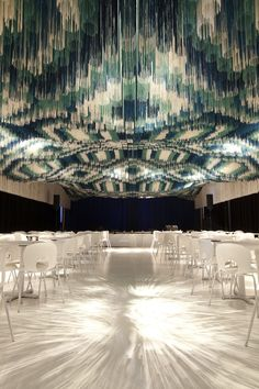A Threaded Ceiling @SerieArchitects #MonsoonClub at the Kennedy Caenter in Washington DC