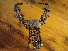 Fabulous Designer Sterling Silver Beaded Necklace by Starheartline, $245.00