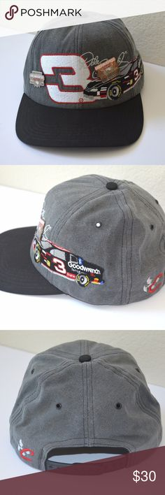 Vintage Dale Earnhardt Chase Nascar Hat & 2 Pins Vintage Dale Earnhardt Chase Nascar Hat & 2 Pins  He was fun to watch and now you can have this awesome Earnhardt cap. The 2 pins are from the Nascar Las Vegas UAW/DAIMLER/CHRYSLER  races from 2001 and 2003. Chase Authentics Accessories Hats