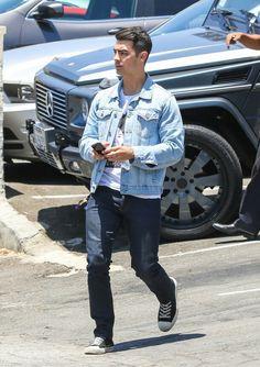 Jeo Jonas in double room # men's fashion #denim pant # denim jacket # stone bleached jacket#
