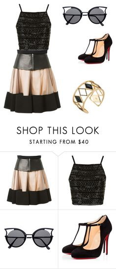 """""""Untitled #236"""" by mackenzie1lacy ❤ liked on Polyvore featuring David Koma, Topshop, Christian Louboutin e Rebecca Minkoff"""