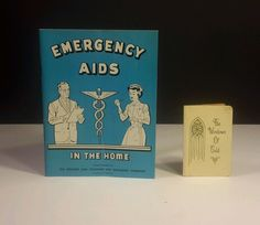 "1967 Emergency Aids in the Home Booklet & ""The Windows of Gold"" Poem Mini Book"