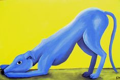 Blue Greyhound by ~lovebirdanimalart on deviantART