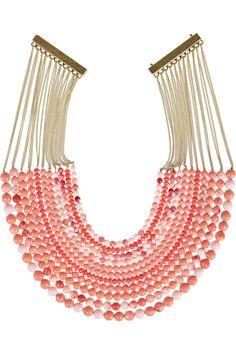 Rosantica|Raissa 24-karat gold-dipped beaded necklace|NET-A-PORTER.COM