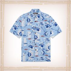 """FREE SHIPPING – EVERY ORDER, EVERY DAY! Kahala Hawaiian Shirt """"The Reef"""" – Sky Blue As schools of reef fish make the rounds on this retro-style throwback print, you'll always feel close to the water in this fun button-up. Don't just enjoy the reef, wear it!  50% Rayon / 25% Cotton / 25% Linen Matched pocket Made in Hawaii, USA  http://hawaiianshirtdude.com/product/kahala-hawaiian-shirt-the-reef-sky-blue/"""