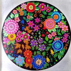 Manda do Jardim Secreto. Terceiro colorido. #jardimsecreto #mandala #stabilo