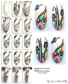 Super Cute Ideas for Summer Nail Art - Nailschick Sharpie Nail Art, Gel Nail Art, Nail Art Diy, Nail Art Abstrait, Nancy Nails, Geometric Nail, Diy Nail Designs, Nail Patterns, Beautiful Nail Designs