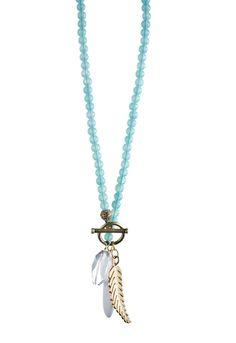 Danielle Stevens :: Feather Drop Necklace