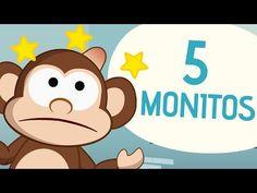 Top Five Numbers Songs for Kids in Spanish | SPANISH MAMA. Cinco monitos / Five Little Monkeys en español.