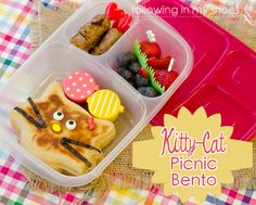 Kitty-Cat Picnic Bento (breakfast for lunch)  #EasyLunchboxes