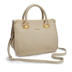 Liu Jo Anna Medium Plait Strap Tote Bag - Champagne 09c08e3b570