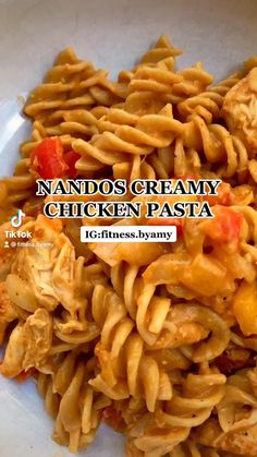 Healthy High Protein Meals, Healthy Pasta Recipes, Healthy Pastas, High Protein Recipes, Protein Foods, Low Calorie Recipes, Easy Pasta Dishes, Chicken Pasta, Fitness Diet