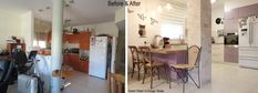 before and after retro kitchen