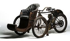 One of the true classics in the Cole collection, this 1907 Indian Tri-Car With Sedan Chair...