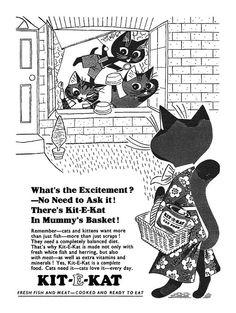 vintage 1956 Kit-E-Kat ad