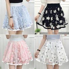 Sweet Net Yarn Printing Tall Waist Skirts from Fashion Kawaii [Japan & Korea] - Cute Skirt Outfits, Cute Skirts, Girly Outfits, Cute Dresses, Dress Outfits, Party Dresses, Harajuku Fashion, Kawaii Fashion, Cute Fashion
