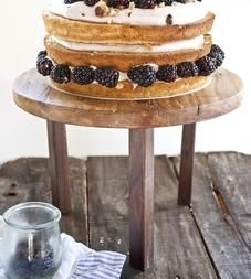 Ambrosia Maple & Walnut Wood Cake Stand