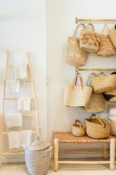 Since we first came up with The Little Market, we have always dreamed of eventually having a brick-and-mortar store. This past weekend, our dream became a reality! Our first store opened in the Pac… Scandi Home, Nordic Home, Boho Decor, Rustic Decor, Farmhouse Decor, Brick And Mortar, Natural Home Decor, Baskets On Wall, Color Stories