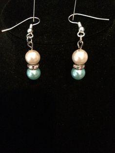pearls top and bottom  rhinestones rondels by ScottishDryad, $5.00