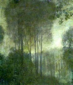 Landscape in moonlight - Edward Steichen (1879-1973)