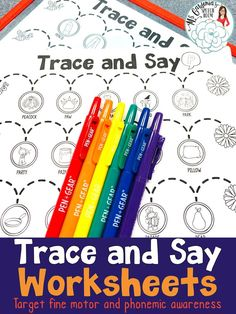 Trace and Say Worksheets for Speech Therapy target articulation and language skills. Great for mixed groups! #SpeechTherapy #TPT Ms. Gardenia's Speech Room on Teachers Pay Teachers.