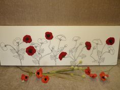 Hand felted Poppy Picture - Amazing!
