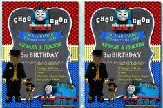 Thomas and friends birthday invitation card