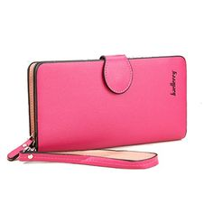 Katloo Women's Long Style PU Leather Horizontal Wallet Wristlet Clutch Handbag Card Holder for iPhone 6 / 6 Plus 6S / 6S Plus , Samsung Galaxy Note 5 / 4 / Edge / S6 / S6 Edge / S6 Edge  / A8 (Rose) ** Want to know more, visit http://www.passion-4fashion.com/handbags/katloo-womens-long-style-pu-leather-horizontal-wallet-wristlet-clutch-handbag-card-holder-for-iphone-6-6-plus-6s-6s-plus-samsung-galaxy-note-5-4-edge-s6-s6-edge-s6-edge-a8-rose/?fg=110716000902