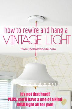everything you need to rewire a light fixture diy inspiration rh pinterest com wiring light fixture for led rewiring a light fixture and wall switch