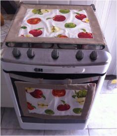 Panô e toalha de fogão 4 bocas