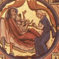 Schlupfärmel Bible moralisée, Paris um 1250 High Middle Ages, Old Clothes, Viking Age, Dark Ages, Working Woman, Vikings, Medieval, Bible, Paris