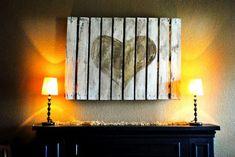 décoration intérieure: panneau avec coeur