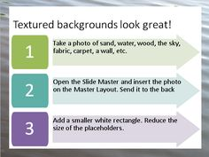 Use a texture as a frame for your slides